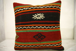 Kilim Pillows |16x16 | Decorative Pillows | 586 | Accent Pillows , turki... - $35.00