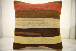 Kilim Pillows |16x16 | Decorative Pillows | 583 | Accent Pillows , turki... - $35.00