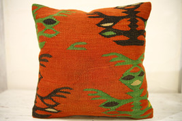 Kilim Pillows |16x16 | Decorative Pillows | 577 | Accent Pillows , turki... - $42.00