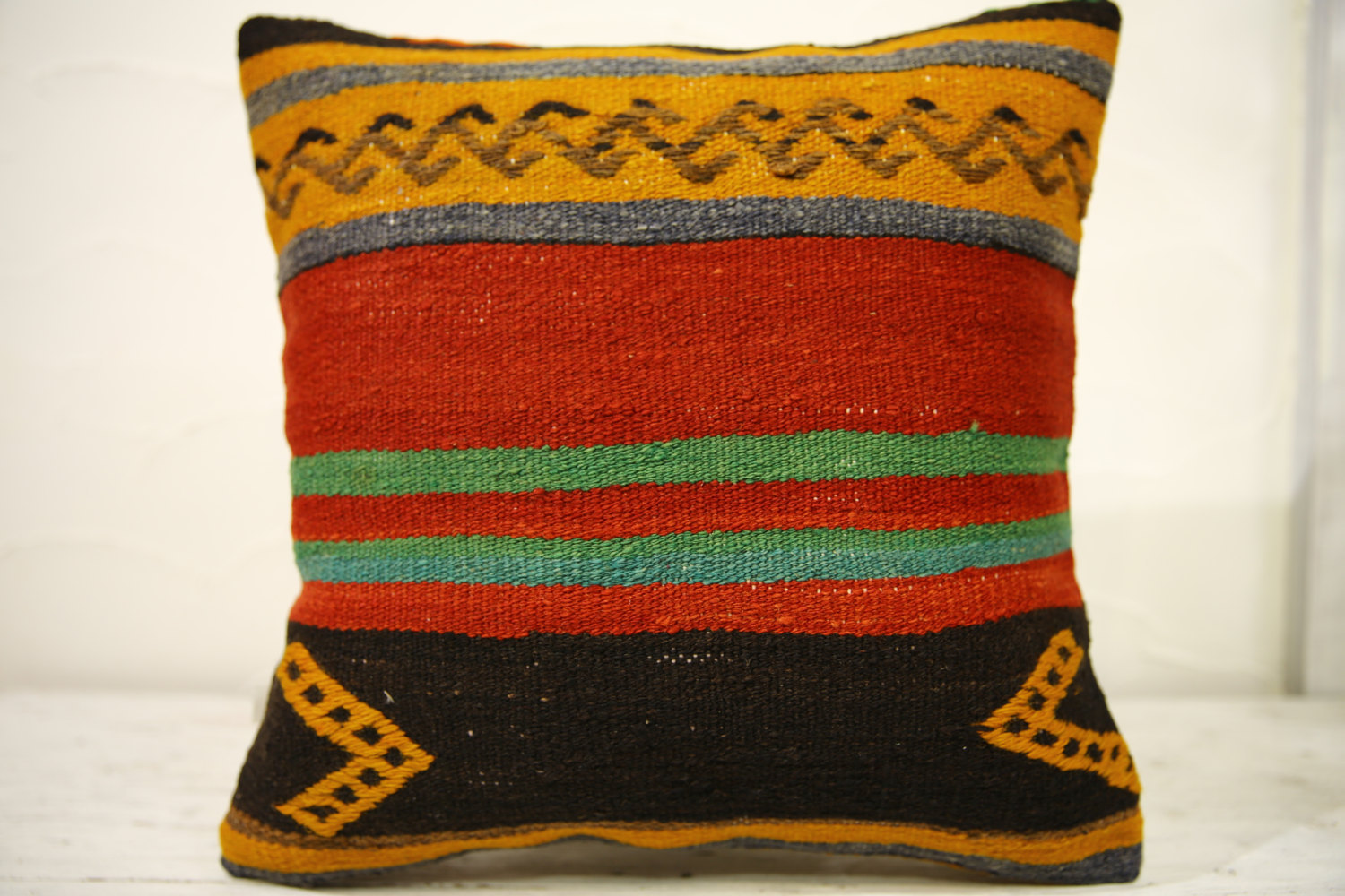 Kilim Pillows |16x16 | Decorative Pillows | 571 | Accent Pillows , turkish pillo