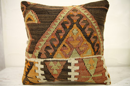 Kilim Pillows |16x16 | Decorative Pillows | 574 | Accent Pillows , turki... - $49.00
