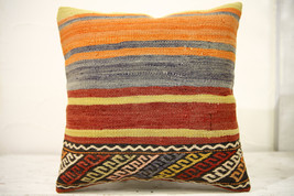Kilim Pillows |16x16 | Decorative Pillows | 567 | Accent Pillows , turki... - $42.00