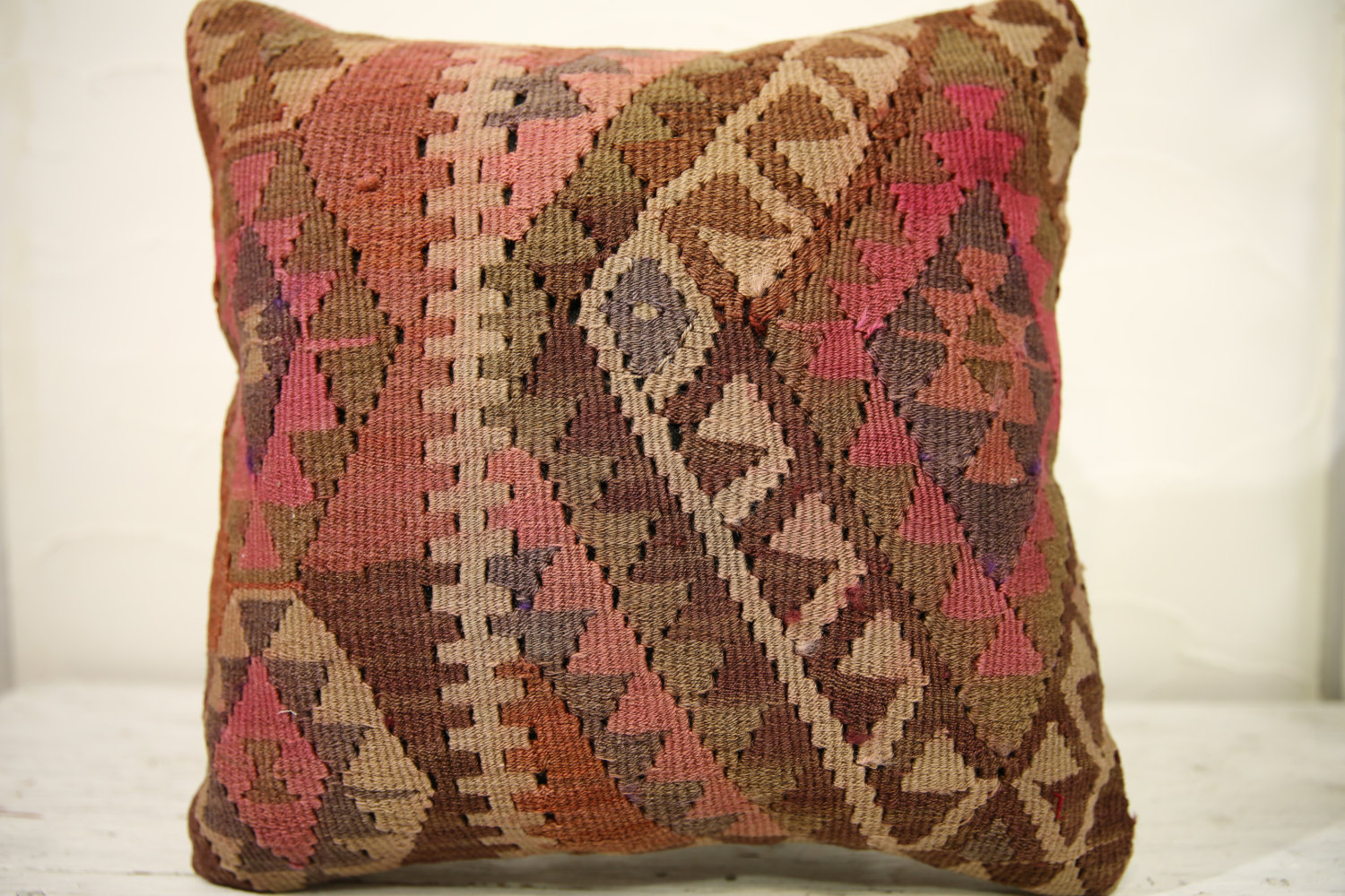 Kilim Pillows |16x16 | Decorative Pillows | 566 | Accent Pillows , turkish pillo