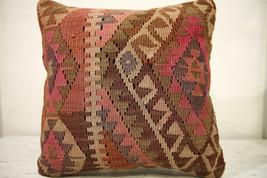 Kilim Pillows |16x16 | Decorative Pillows | 566 | Accent Pillows , turki... - $49.00