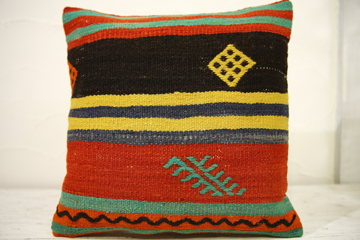 Kilim Pillows |16x16 | Decorative Pillows | 558 | Accent Pillows , turkish pillo