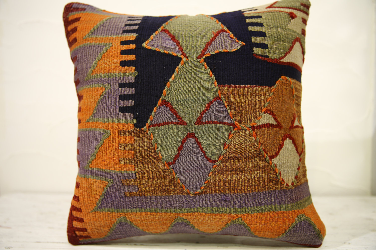 Kilim Pillows |16x16 | Decorative Pillows | 556 | Accent Pillows , turkish pillo
