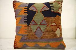Kilim Pillows |16x16 | Decorative Pillows | 556 | Accent Pillows , turki... - $42.00