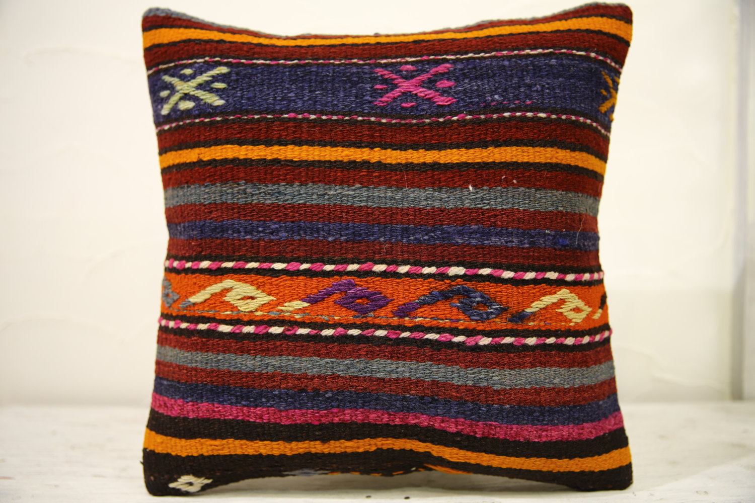 Kilim Pillows |16x16 | Decorative Pillows | 562 | Accent Pillows , turkish pillo