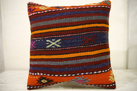 Kilim Pillows |16x16 | Decorative Pillows | 559 | Accent Pillows , turki... - $35.00