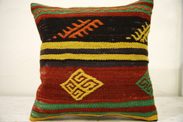 Kilim Pillows |16x16 | Decorative Pillows | 565 | Accent Pillows , turki... - $35.00