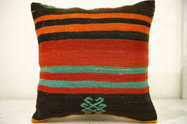Kilim Pillows |16x16 | Decorative Pillows | 554 | Accent Pillows , turki... - $35.00