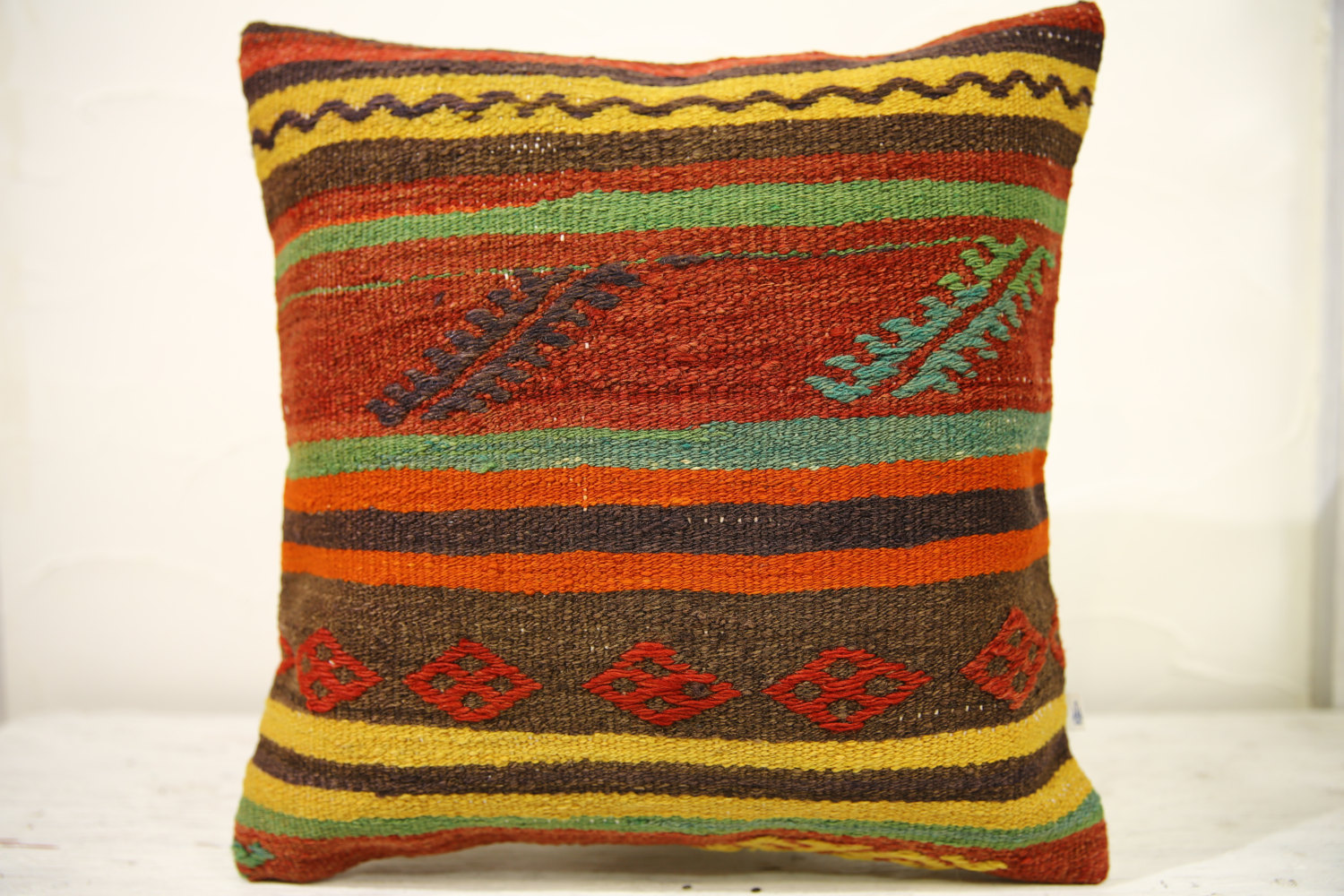 Kilim Pillows |16x16 | Decorative Pillows | 551 | Accent Pillows , turkish pillo