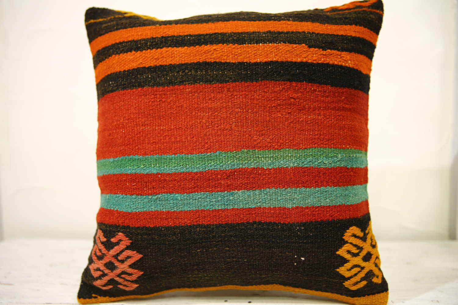 Kilim Pillows |16x16 | Decorative Pillows | 549 | Accent Pillows , turkish pillo