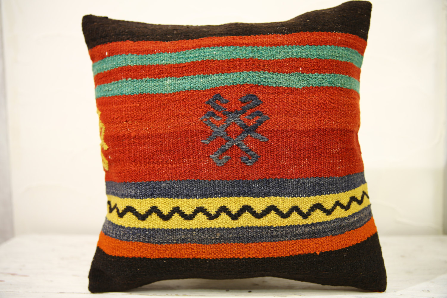 Kilim Pillows |16x16 | Decorative Pillows | 541 | Accent Pillows , turkish pillo