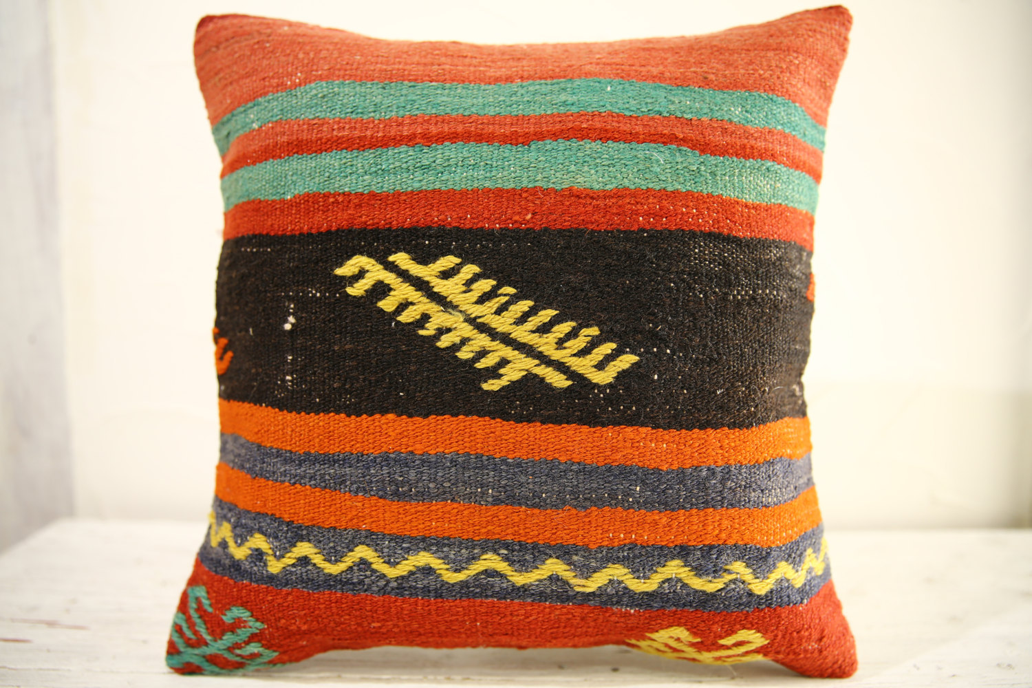 Kilim Pillows |16x16 | Decorative Pillows | 536 | Accent Pillows , turkish pillo