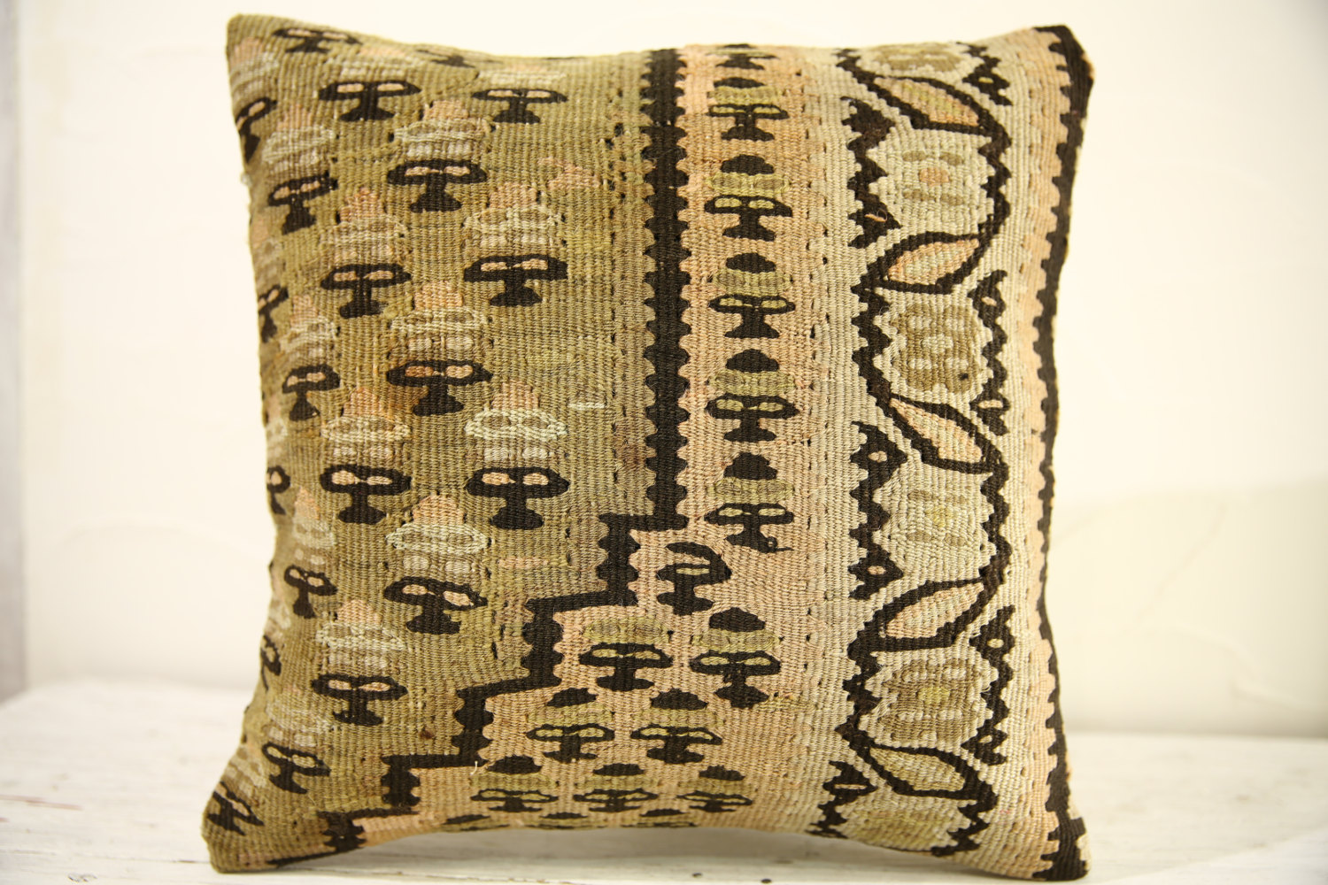 Kilim Pillows |16x16 | Decorative Pillows | 529 | Accent Pillows turkish pillow