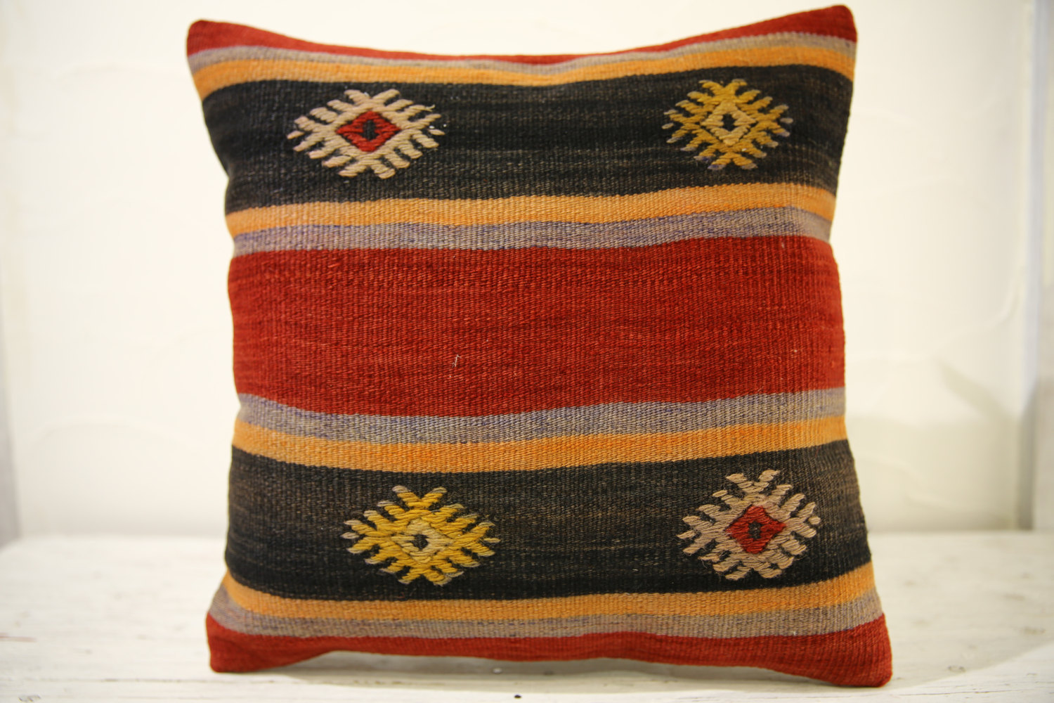 Kilim Pillows |16x16 | Decorative Pillows | 522 | Accent Pillows turkish pillow