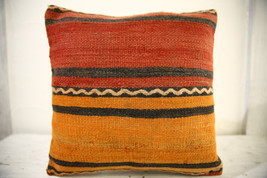 Kilim Pillows |16x16 | Decorative Pillows | 521 | Accent Pillows turkish... - $35.00