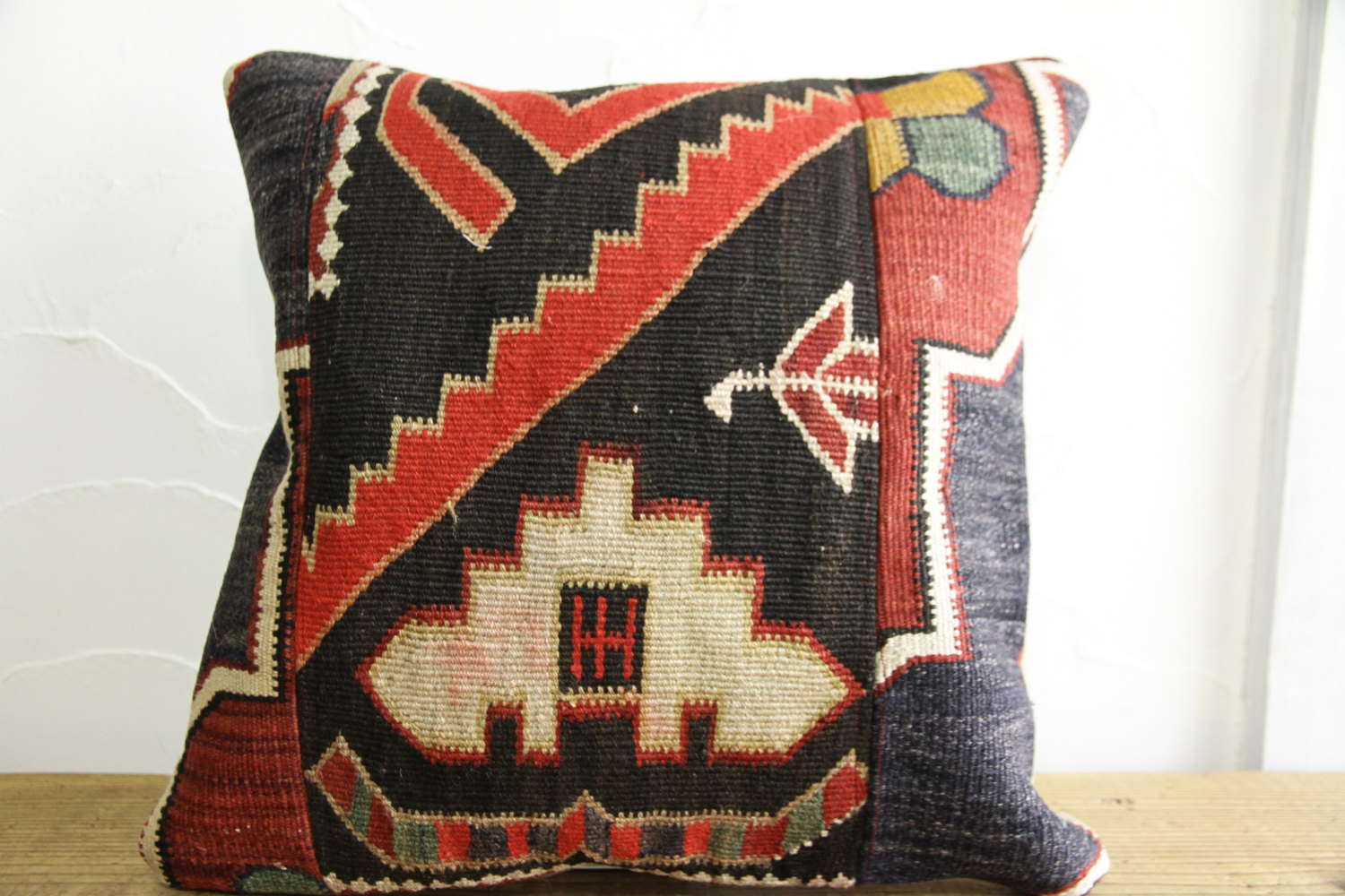 Kilim Pillows |16x16 | Decorative Pillows | 493 | Accent Pillows turkish pillow