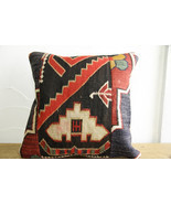 Kilim Pillows |16x16 | Decorative Pillows | 493 | Accent Pillows turkish... - $35.00