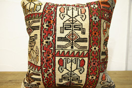 Kilim Pillows |16x16 | Decorative Pillows | 495 | Accent Pillows turkish... - $42.00