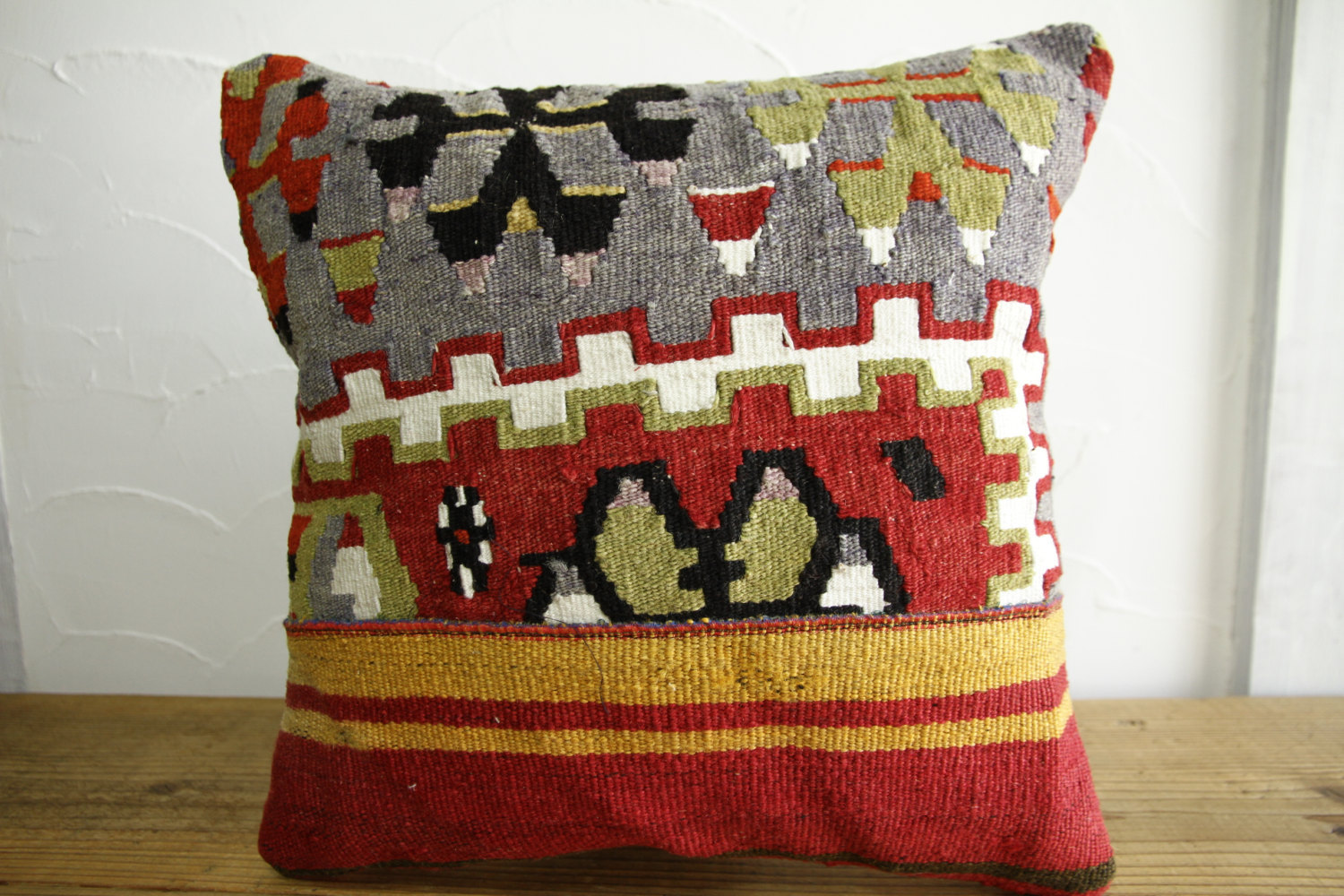 Kilim Pillows |16x16 | Decorative Pillows | 485 | Accent Pillows turkish pillow