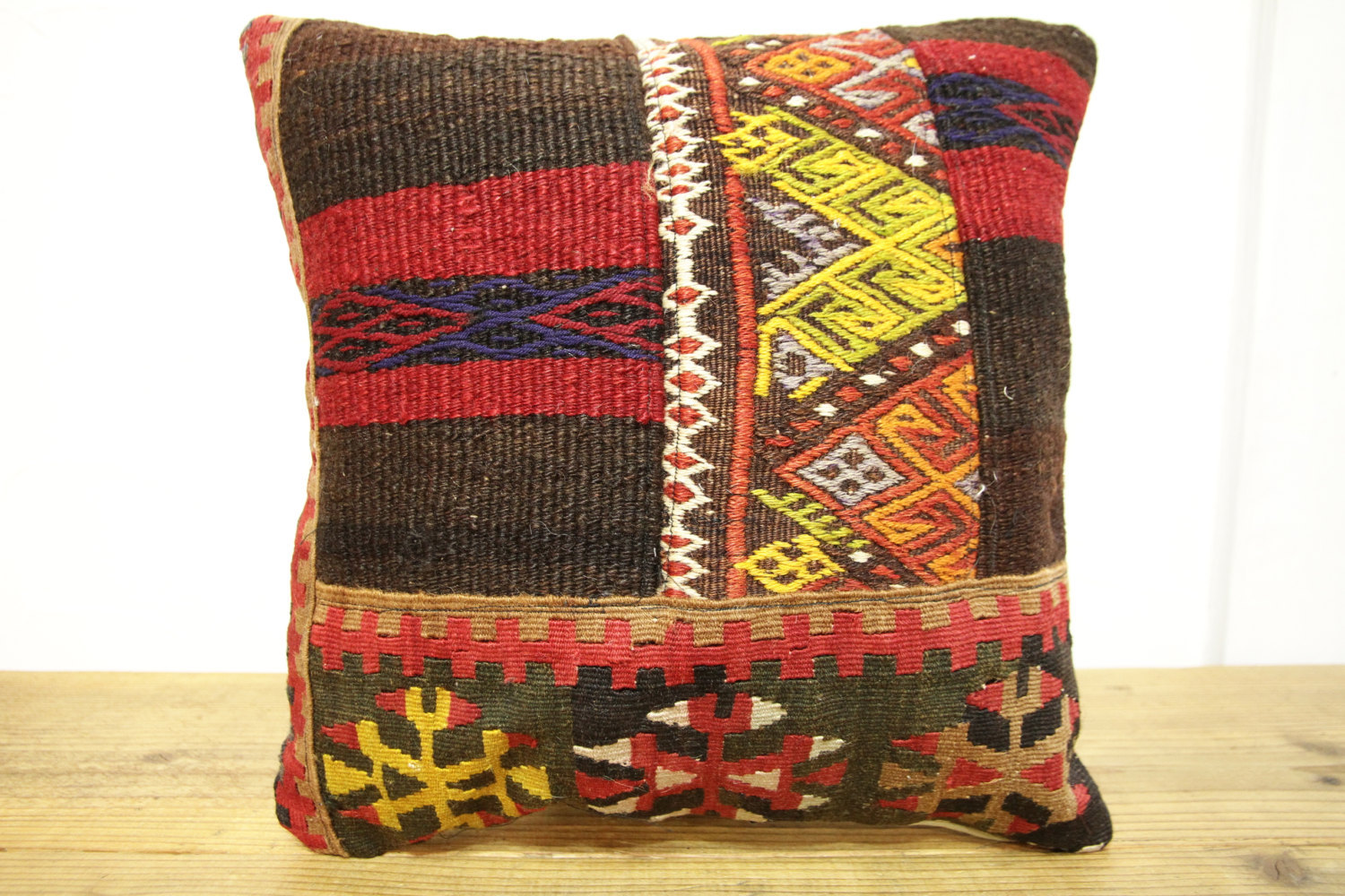 Kilim Pillows |16x16 | Decorative Pillows | 501 | Accent Pillows turkish pillow