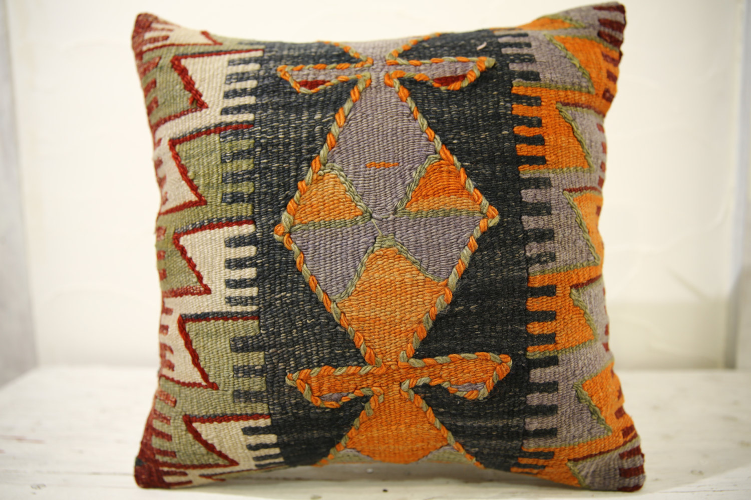 Kilim Pillows |16x16 | Decorative Pillows | 516 | Accent Pillows turkish pillow