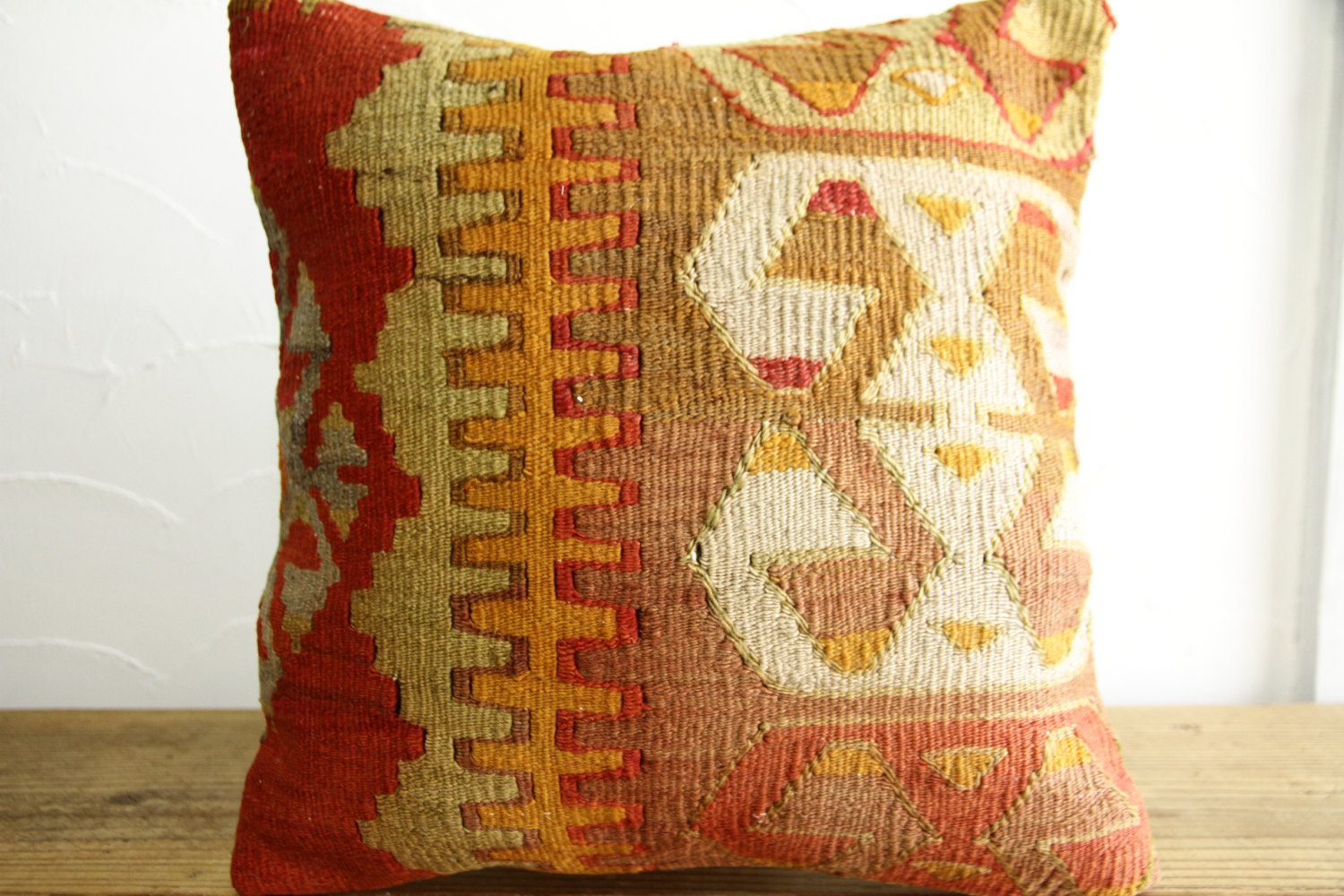 Kilim Pillows |16x16 | Decorative Pillows | 436 | Accent Pillows turkish pillow