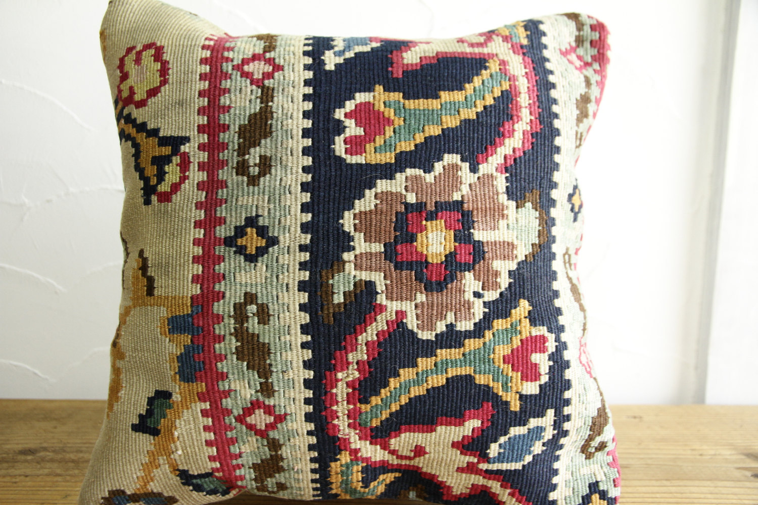 Kilim Pillows |16x16 | Decorative Pillows | 437 | Accent Pillows turkish pillow