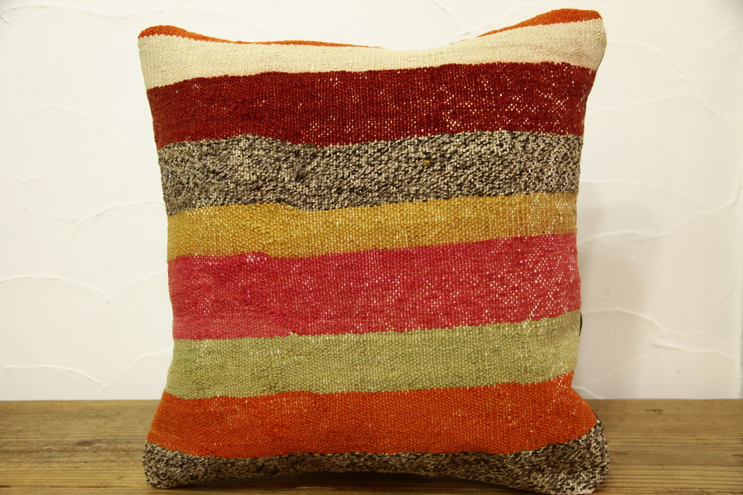 Kilim Pillows |16x16 | Decorative Pillows | 413 | Accent Pillows, Kilim cushion