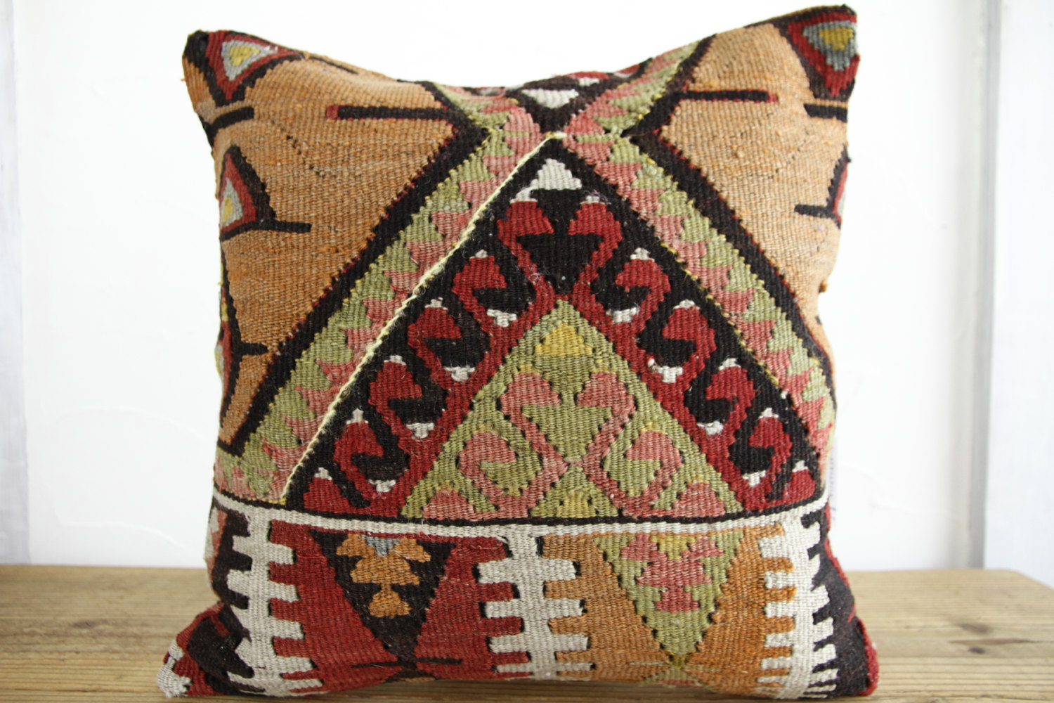 Kilim Pillows |16x16 | Decorative Pillows | 167 | Accent Pillows, Kilim cushion