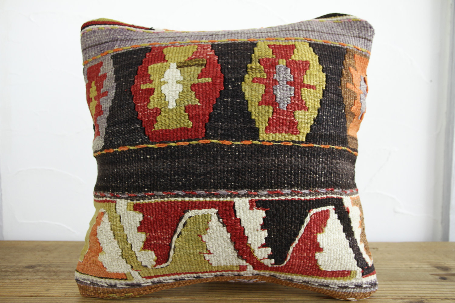 Kilim Pillows |16x16 | Decorative Pillows | 165 | Accent Pillows, Kilim cushion