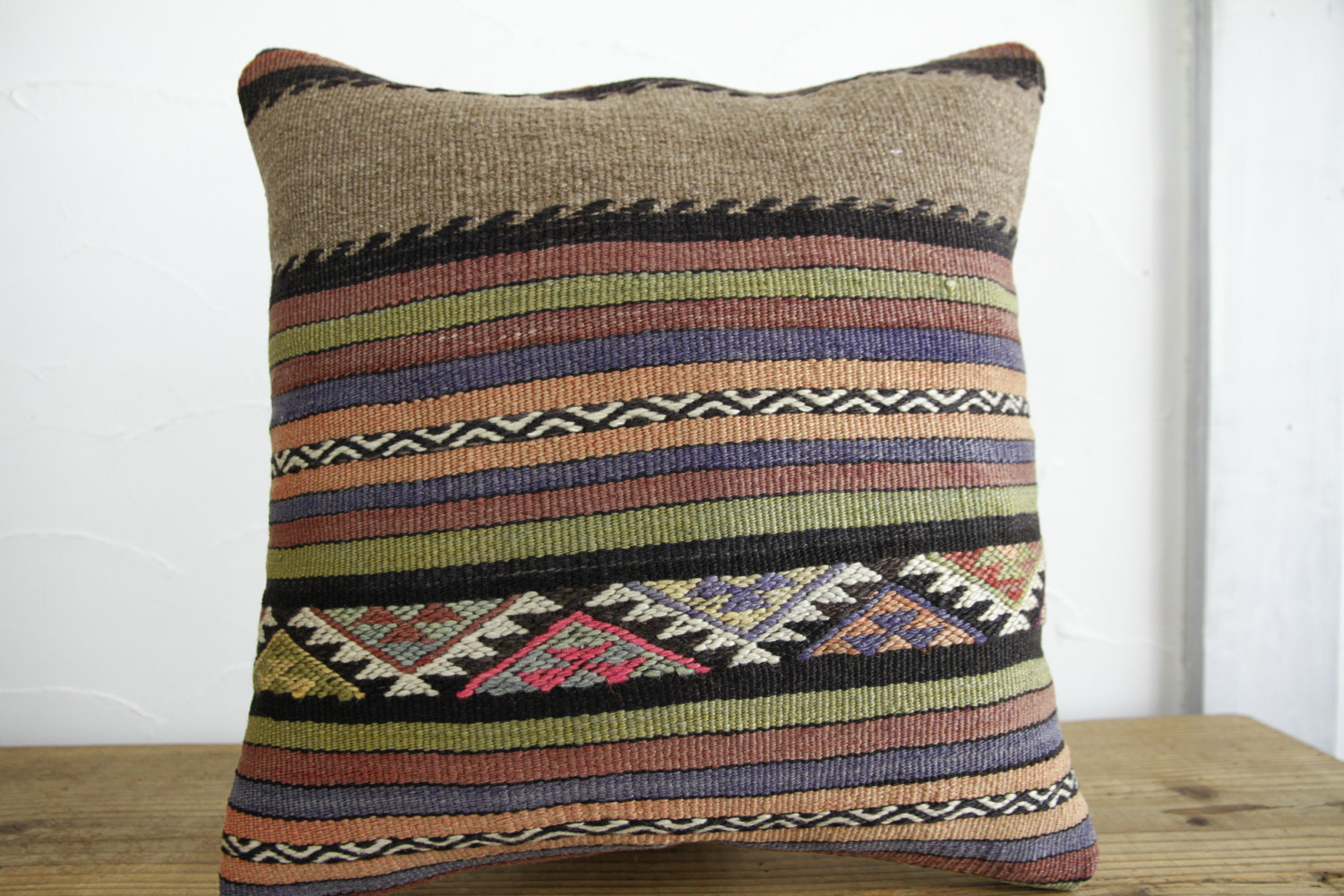 Kilim Pillows |16x16 | Decorative Pillows | 172 | Accent Pillows, Kilim cushion