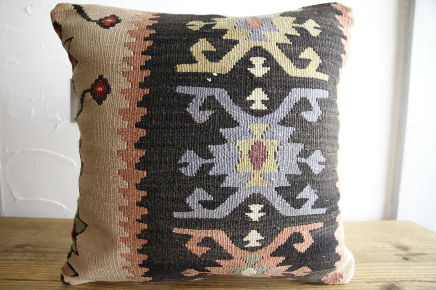 Kilim Pillows |16x16 | Decorative Pillows | 119 | Accent Pillows, Kilim cushion