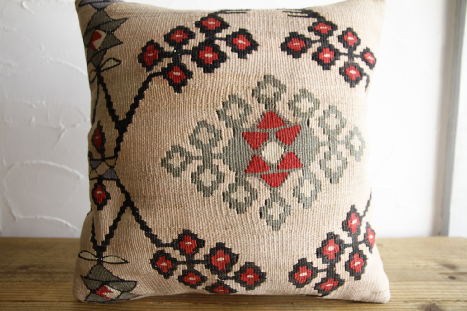 Kilim Pillows |16x16 | Decorative Pillows | 120 | Accent Pillows, Kilim cushion
