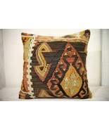 Kilim Pillows |18x18| Decorative Pillows | 1005 | Accent Pillows, Kilim ... - $49.00