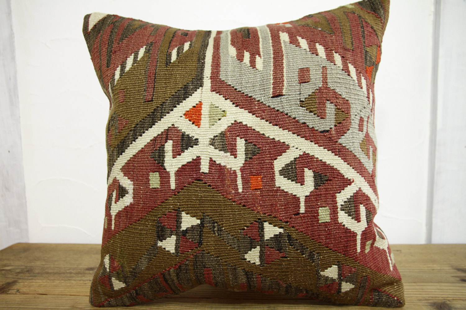 Kilim Pillows |18x18| Decorative Pillows | 402 | Accent Pillows, Kilim cushion