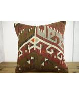 Kilim Pillows |18x18| Decorative Pillows | 402 | Accent Pillows, Kilim c... - $49.00