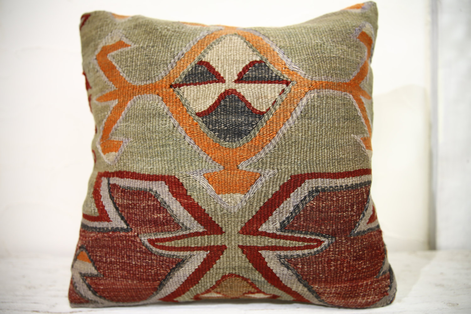 Kilim Pillows |18x18| Decorative Pillows | 1002 | Accent Pillows, Kilim cushion