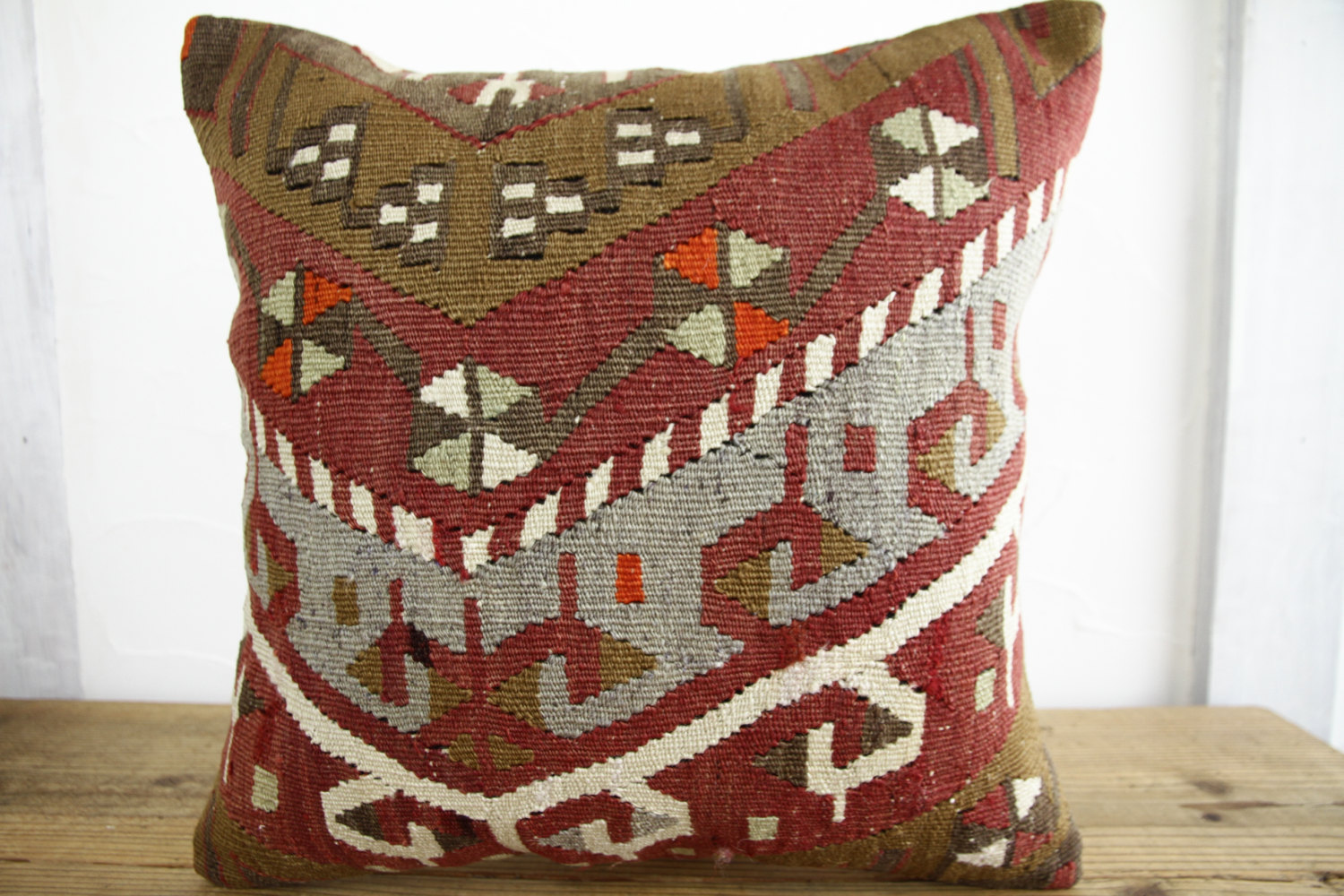 Kilim Pillows |18x18| Decorative Pillows | 352 | Accent Pillows, Kilim cushion