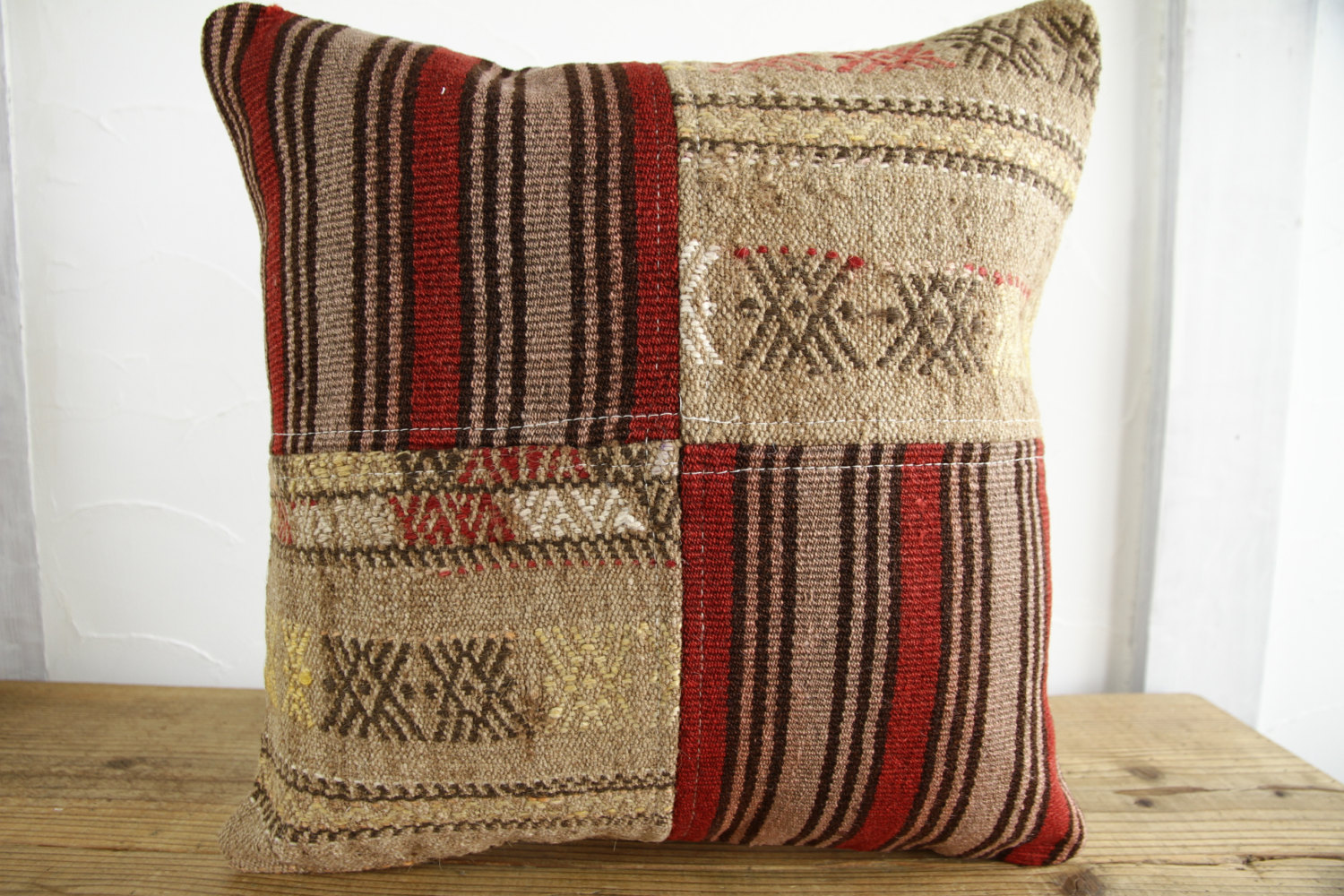 Kilim Pillows |18x18| Decorative Pillows | 362 | Accent Pillows, Kilim cushion