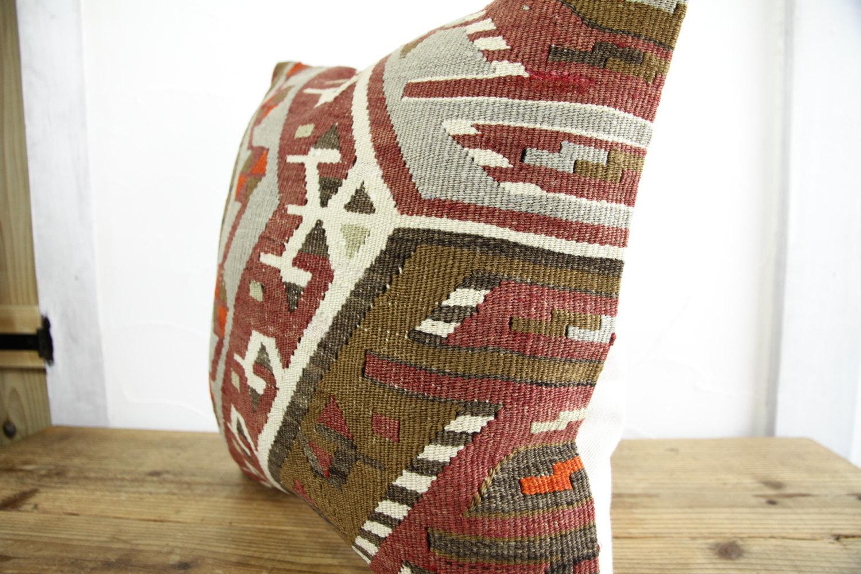 Kilim Pillows |18x18| Decorative Pillows | 350 | Accent Pillows, Kilim cushion