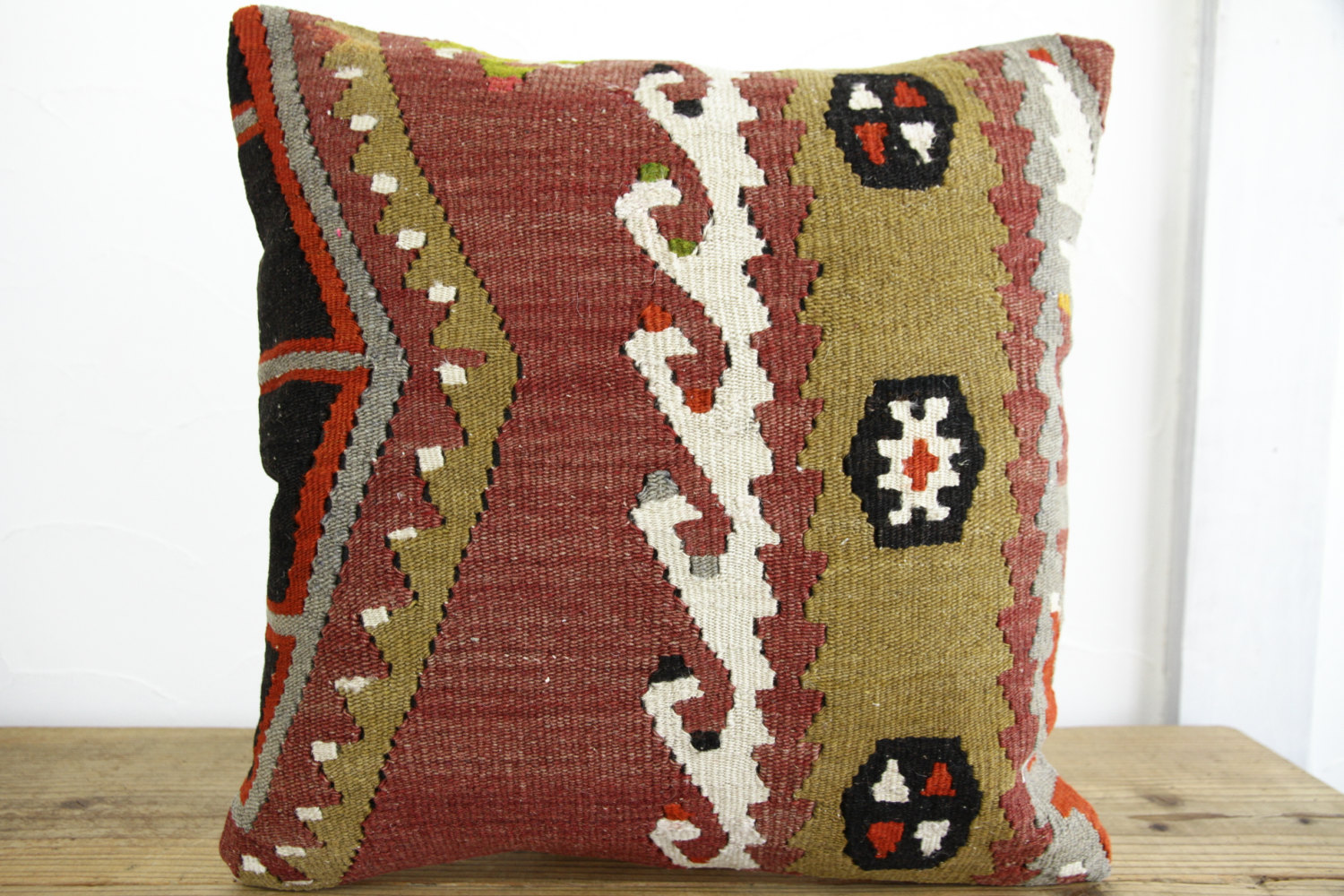 Kilim Pillows |18x18| Decorative Pillows | 310 | Accent Pillows, Kilim cushion