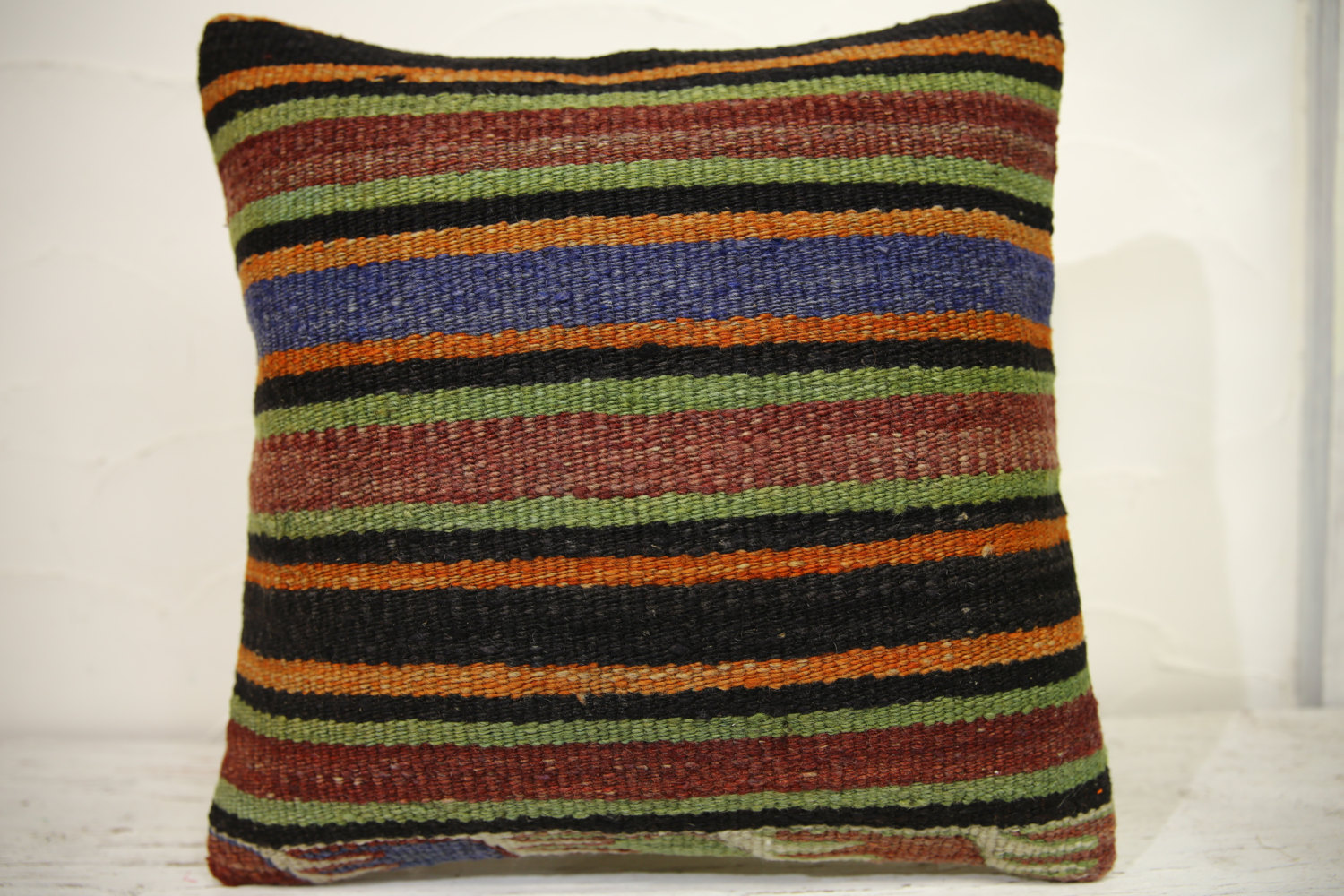 Kilim Pillows | 16x16 | Turkish pillows | 1091 | Ethnic Pillow , Kelim cushion ,