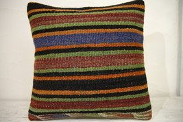 Kilim Pillows | 16x16 | Turkish pillows | 1091 | Ethnic Pillow , Kelim c... - $35.00
