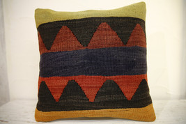 Kilim Pillows | 16x16 | Turkish pillows | 1084 | Ethnic Pillow , Kelim c... - $35.00