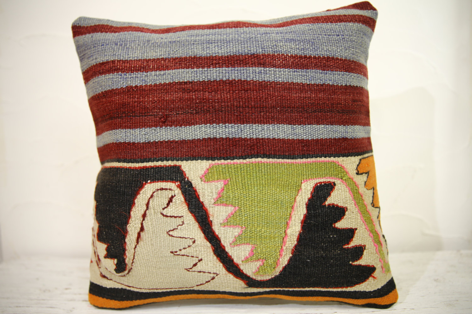 Kilim Pillows | 16x16 | Turkish pillows | 1088 | Ethnic Pillow , Kelim cushion ,