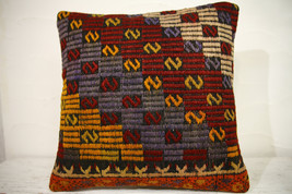 Kilim Pillows | 16x16 | Turkish pillows | 1090 | Ethnic Pillow , Kelim c... - $35.00
