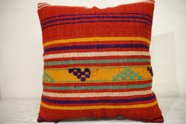Kilim Pillows | 16x16 | Turkish pillows | 1082 | Ethnic Pillow , Kelim c... - $35.00